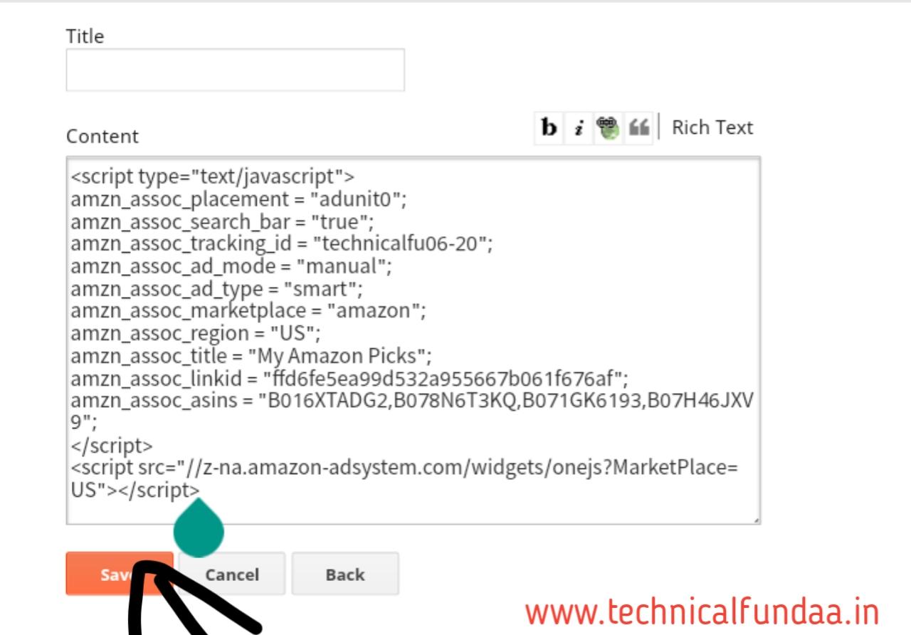 Amazon native ads setup