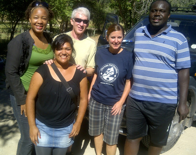 The Okavango Half Marathon organizing Team Salewa, Dinah, Marion, Carolyn and Jay (Jeremy not pictured)