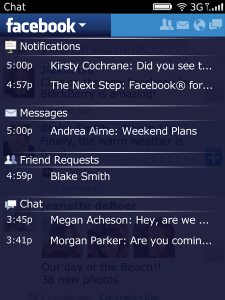 Facebook v3.3.0.11 BlackBerry