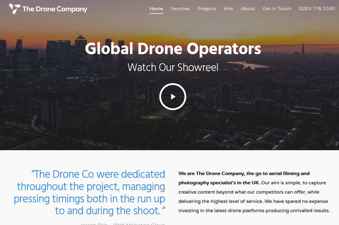 Best Drone Video Operator in the UK