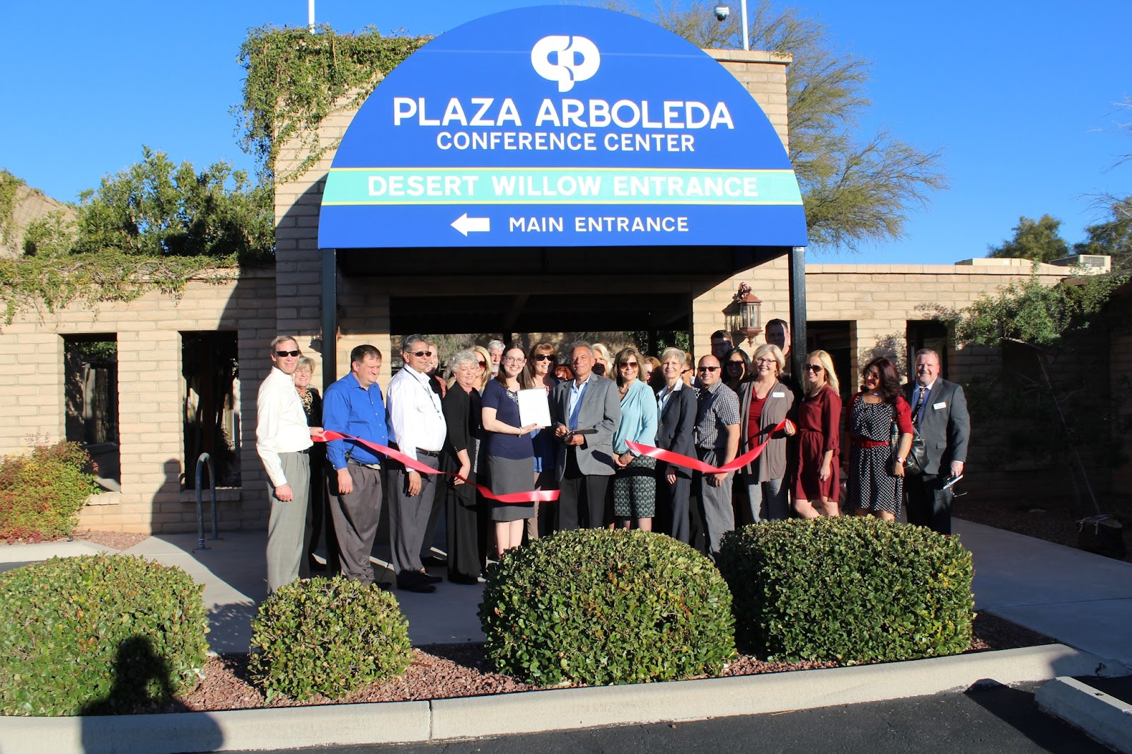 Plaza Arboleda Conference Center hosted a ribbon-cutting and grand opening to showcase its newly refurbished meeting and event space, which includes new audio/visual equipment.  Attendees also had the opportunity to sample some of our delicious and affordable, in-house catering.