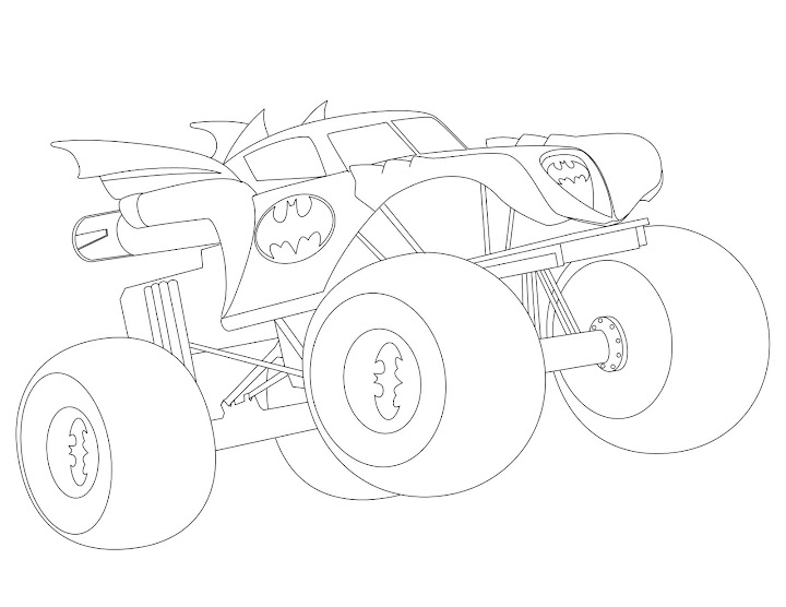 superman monster truck coloring pages - photo#1