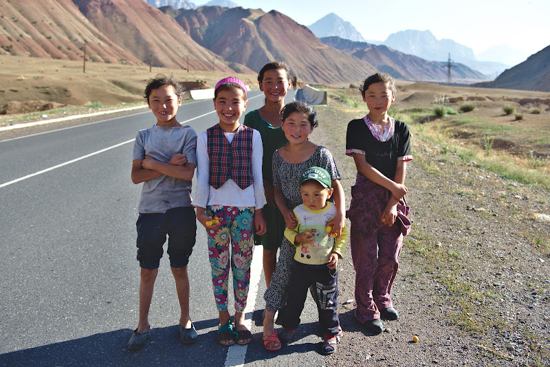 Kyrgyz children and the apricot season.