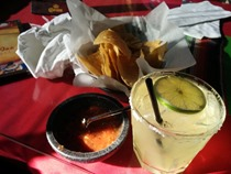 Tequila, Salsa and Chips at Olvera Street, Los Angeles