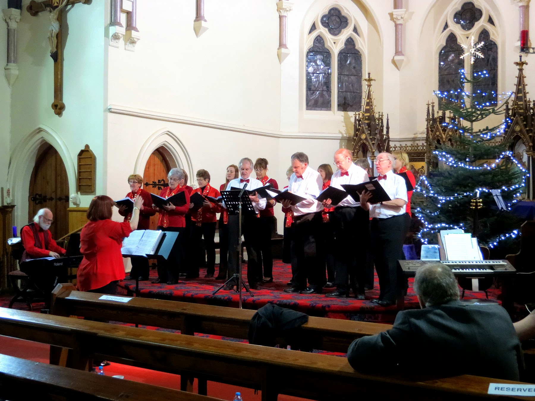 Photo: The Choir also performed Coventry Carol, What Child is This?, Stille Nacht, The Twelve Days After Christmas, Mary's Boy Child, Sleigh Ride, Carol of the Bells, Have Yourself a Merry Little Christmas and We Wish You a Merry Christmas.
