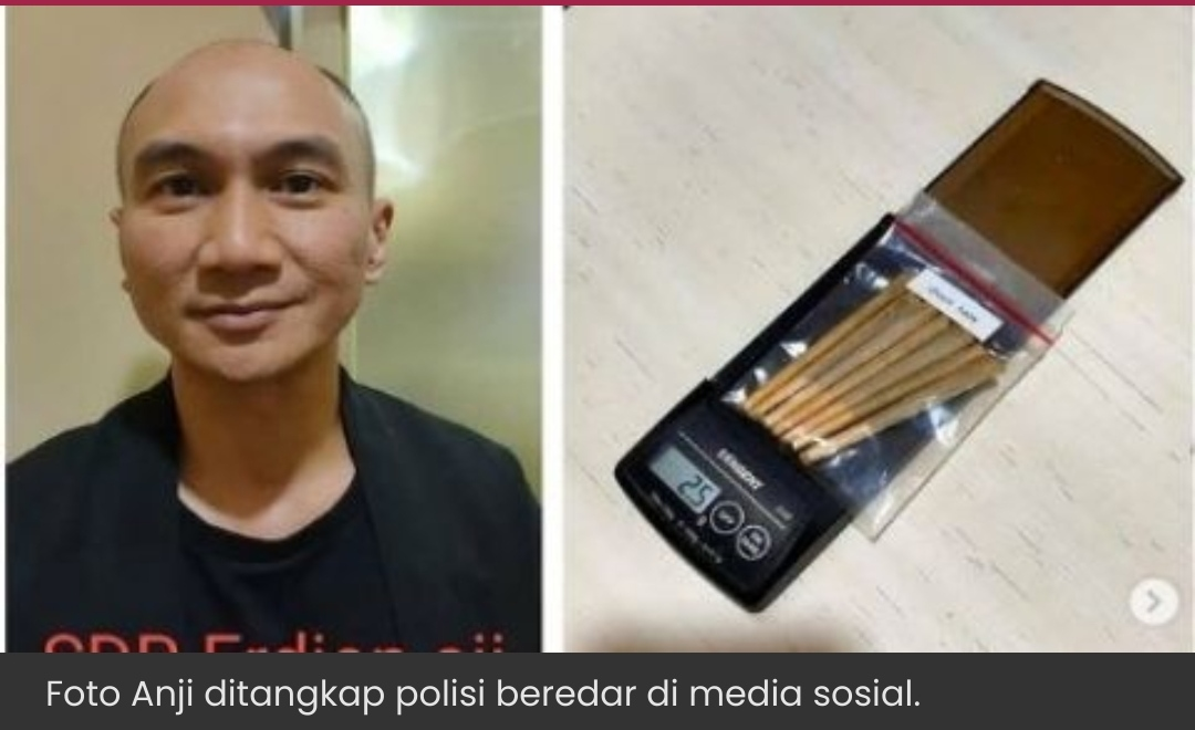 Lintingan Ganja dan Foto Anji Ditangkap Polisi, Senyum Tipis