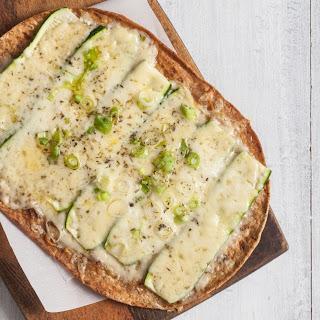Zucchini, Green Onion and Gruyère Pizza