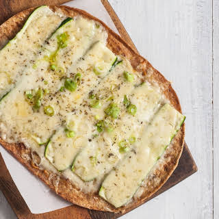 Zucchini, Green Onion and Gruyère Pizza.
