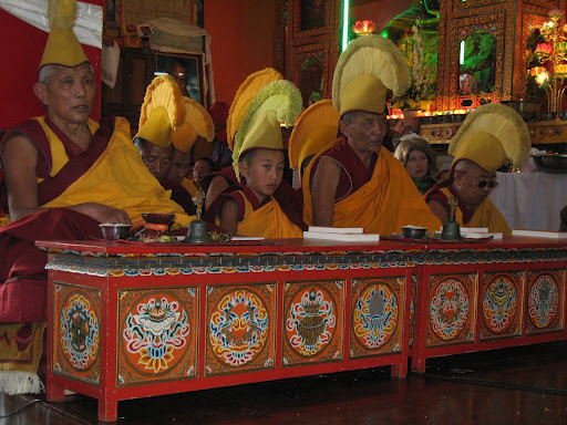 Long life puja at Kopan Monastery, December, 2008.