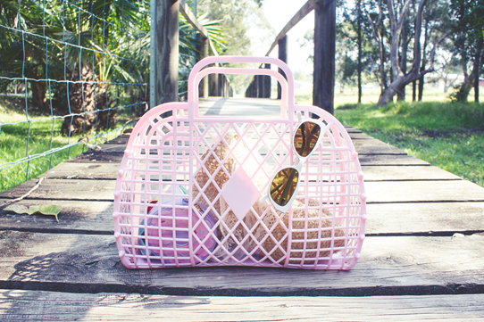"The pink ""Alice"" Sun Jellies Basket 