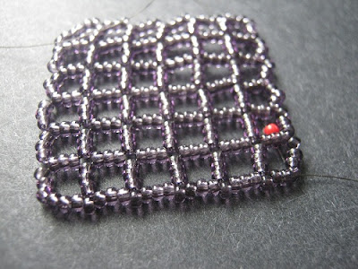Embellished Openwork Right Angle Weave