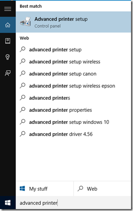 Advanced Printer Setup