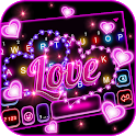 Love Neon Lights Keyboard Background icon