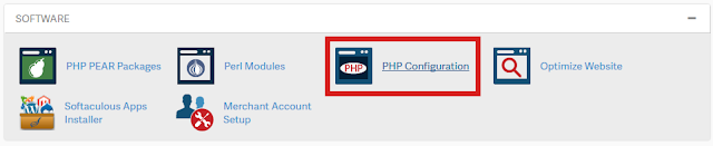 Update php version from cpanel