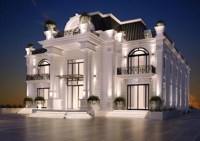Thiết kế biệt thự cổ điển kiểu Pháp sang trọng