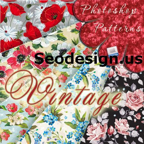 Grunge Free Vintage Floral Patterns