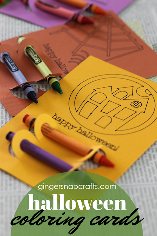 Halloween Coloring Cards at GingerSnapCrafts.com #papercrafts #Halloween #craftlightning_thumb[3]