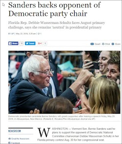 20160522_1529 Sanders backs opponent of Democratic party chair (timesofisrael).jpg