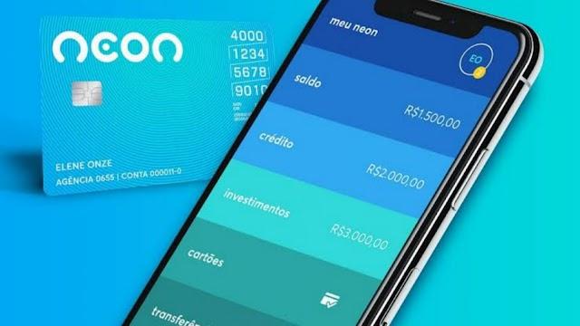Abra sua conta com cartão de crédito grátis no Banco Neon e ganhe R$ 20