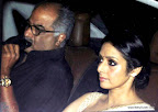 Boney Kapoor and Sridevi at SRK Edi Party 2013. pic/ yogen shah
