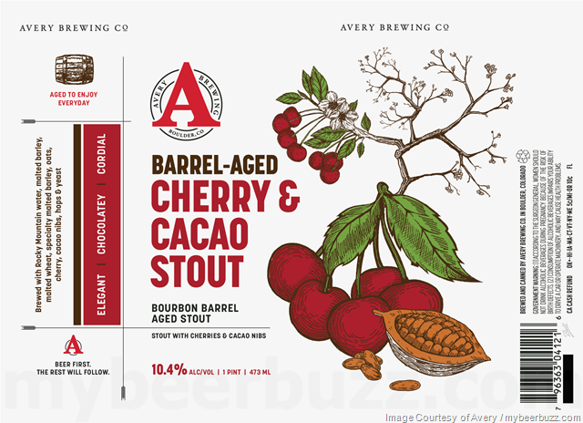 Avery Adding Raspberry Sour, Coconut Porter, Vanilla Bean Stout And New Cherry & Cacao Stout 16oz Cans
