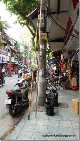 Hanoi. Flashes callejeros. Aceras ocupadas