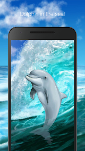 Dolphin in the sea live wallpaper - náhled