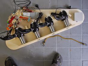 Photo: left slingshot test assembly