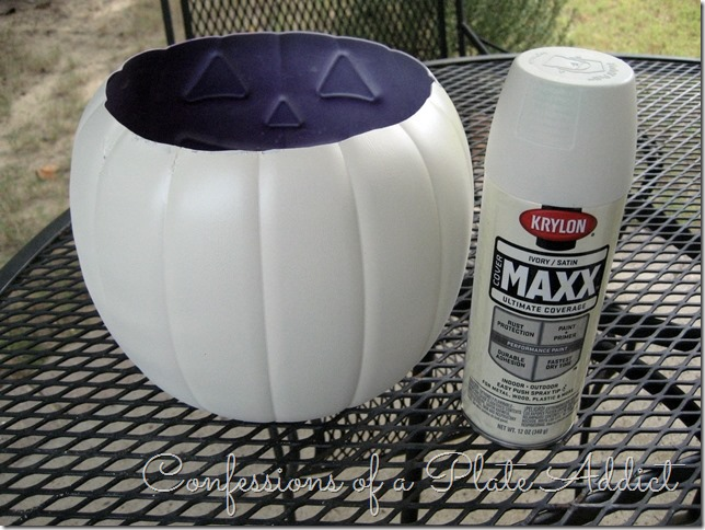 CONFESSIONS OF A PLATE ADDICT  Easy and Inexpensive Faux Pumpkin Planter2