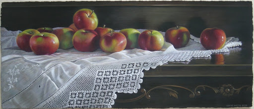 Thirteen Apples. Artist Leslie Watts