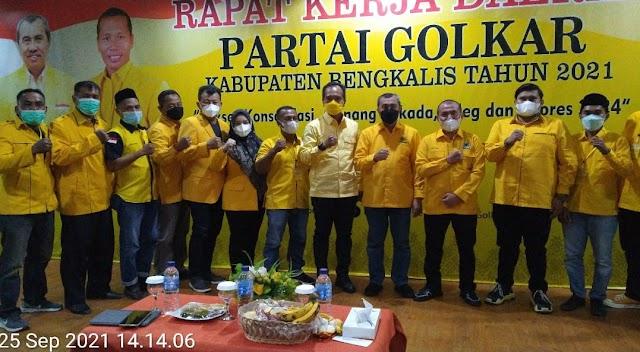 Rakerda DPD Partai Golkar Kabupaten Bengkalis Berjalan Dengan Lancar