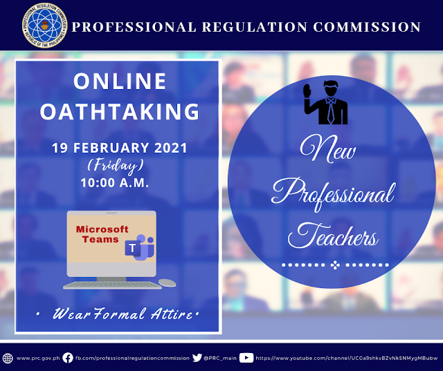 New Professional Teachers Online Oathtaking Schedule and Other Details