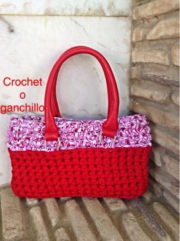 Crochet o ganchillo bolso red trapillo for Bolso crochet trapillo