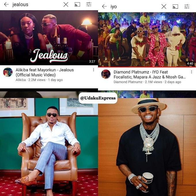 Taarifa Kwa Vyombo vya Habari.. Ali Kiba Amburuza Diamond Platnumz Viwers YouTube Nyimbo Mpya