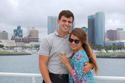 That's me and my fiance on our Hornblower cruise.