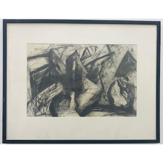 Jay Hendrickx Signed Expressionist Style Drawing