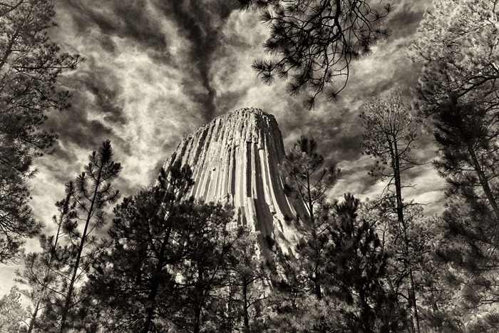 devils_tower_bw