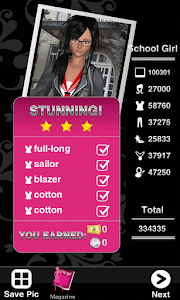 Style Me Girl Level 47 - School Girl - Olivia - Stunning! Three Stars