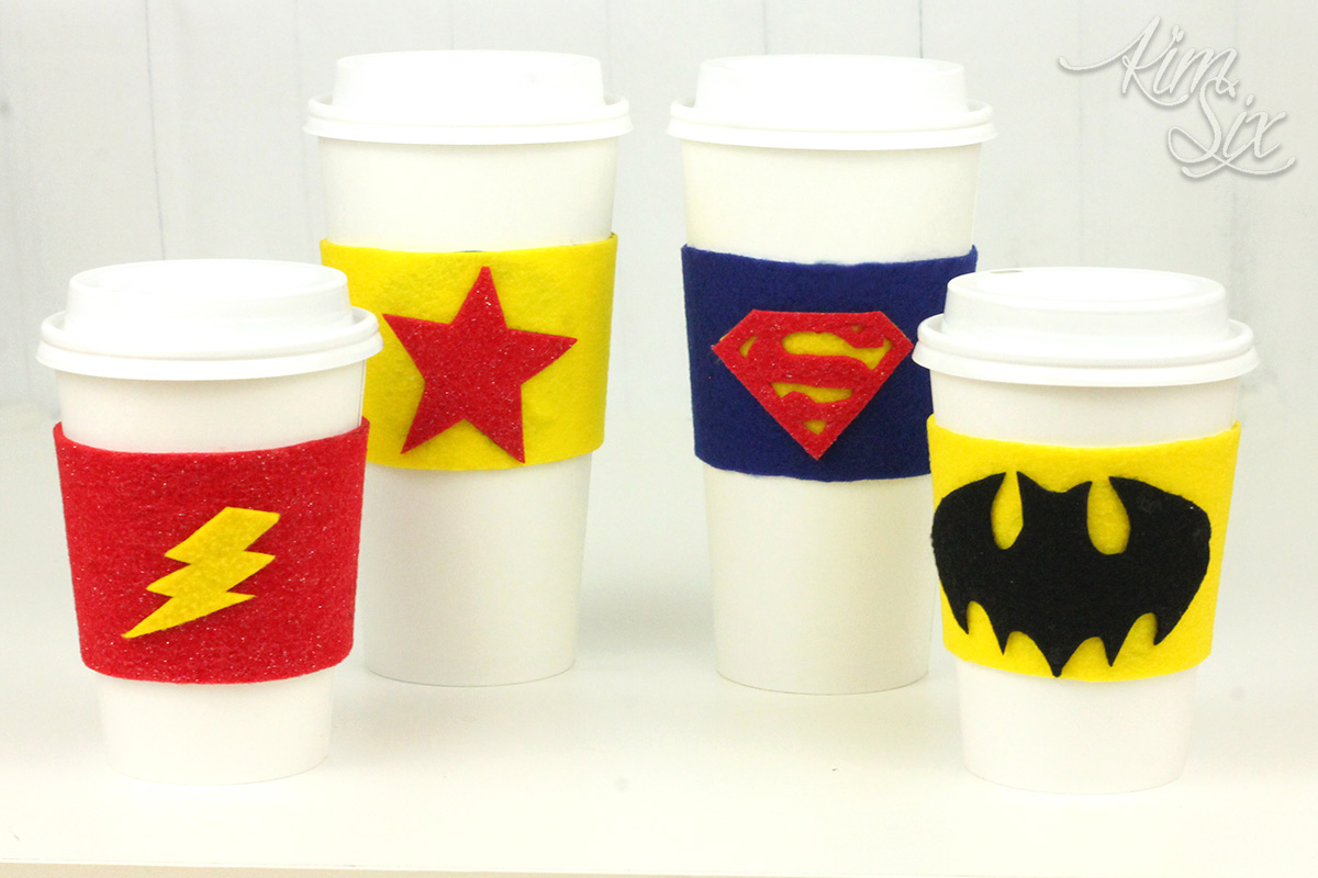 Superhero coffee sleeve craft