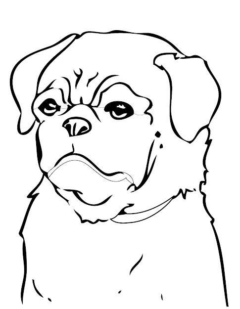 Best HD Dog Breed Coloring Pages Drawing