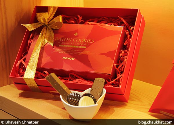 A Box of Baton Cookies at ROYCE' [Phoenix Market City, Pune, India]