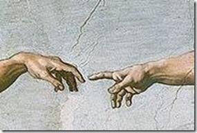 God touching Adam