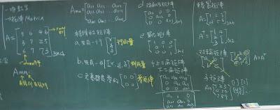 各種矩陣的定義