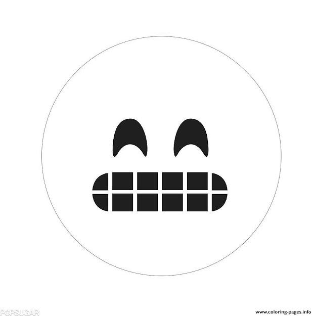 Happy Emoji Colouring Print Happy Emoji Coloring Pages