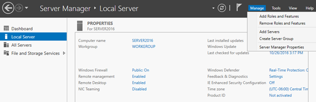 How to install IIS 10 on Windows Server 2016