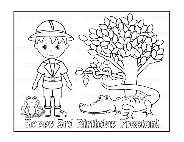 Safari Animals Coloring Pages Az Inside Baby Jungle