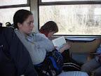 Holky si ve vlaku cetly