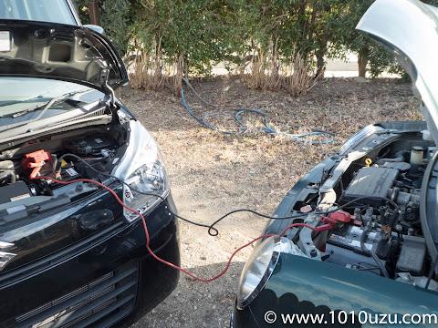 救護車のエンジンをかけてしばらくしてから故障車のエンジンをかけしばらく放置