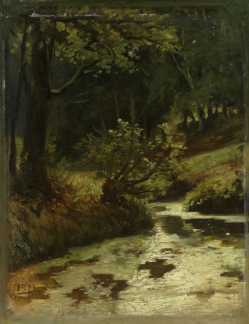 Matthijs Maris - Brook in the Woods near Oosterbeek.