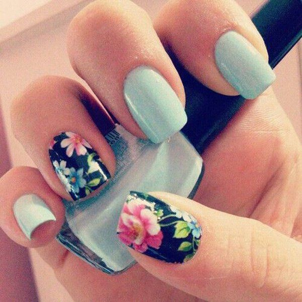Top 50 Pretty Flower Nail Designs For Beautiful Lady Fashonails